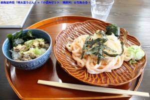 鶴亀屋春慶「明太皿うどん」+「小盛丼セット・焼き豚丼」