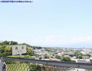 小田原城天守閣からの眺め、丹沢方面。
