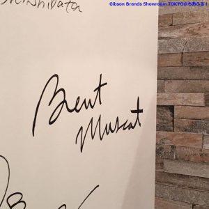 ブレントさんサイン@ギブソンブランドショールームTOKYO
