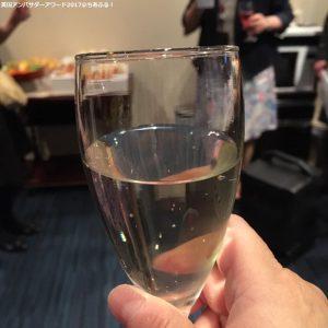 英国アンバサダーアワード2017 乾杯のスパークリングワイン